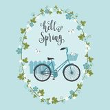 Frühlingskonzept-Vektorillustration Lizenzfreies Stockfoto