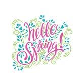 Frühlingskunsttext Stockfoto
