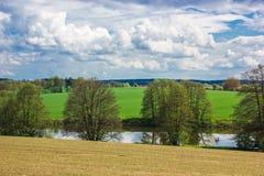 Frühlingslandschaft in der Tschechischen Republik Stockfotos