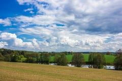 Frühlingslandschaft in der Tschechischen Republik Stockfoto