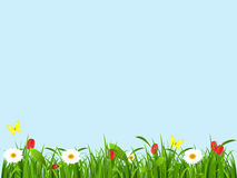 Frühlingslandschaft, Hintergrund für eine Karte stock abbildung