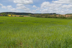 Frühlingslandschaft im Bayern Lizenzfreie Stockfotos