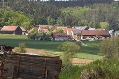 Frühlingslandschaft im Bayern Stockbild