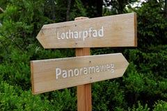 Frühlingslandschaft - schwarzer Forest Hiking auf dem Lothar-Weg im Schwarzwald, Deutschland Stockfotografie