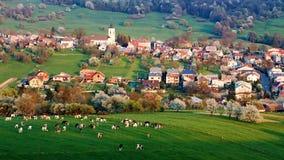 Frühlingslandschaft in Slowakei Lizenzfreies Stockfoto