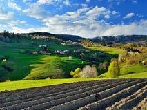 Frühlingslandschaft in Slowakei Lizenzfreie Stockbilder