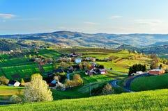Frühlingslandschaft in Slowakei Lizenzfreie Stockfotos