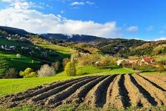 Frühlingslandschaft in Slowakei Stockbild