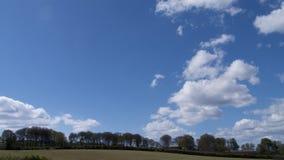 Frühlingslandschaft u. Himmel, Cornwall, Großbritannien Lizenzfreies Stockbild