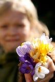 Frühlingsmädchen Stockfoto