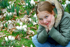 Frühlingsmädchen Lizenzfreies Stockbild