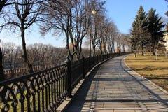 Frühlingsmorgen in Moskau Stockbild