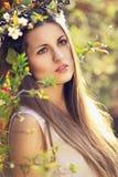 Frühlingsnymphenporträt Stockbild