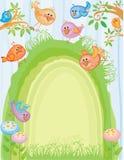 Frühlingsostern-Karte Stockbild