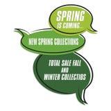 Frühlingsplakat Stockfotos