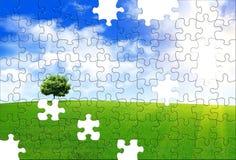 Frühlingspuzzlespiel Stockbild