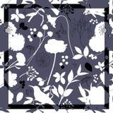 Frühlingsretro- Blumendruck Stockbild