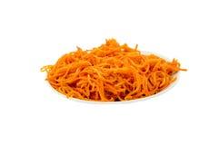 Frühlingssalat von Karotten Stockfotografie