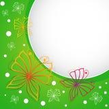 Frühlingsschablone mit Schmetterlinge ? Lizenzfreies Stockbild