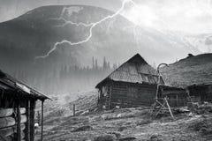 Frühlingsschneesturm Chernogora Lizenzfreies Stockfoto