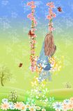 Frühlingsschwingen Stockfoto