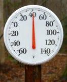 Frühlingsthermometer im Freien Lizenzfreies Stockbild