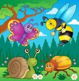 Frühlingstier- und -insektenthemabild 4 Lizenzfreie Stockfotos