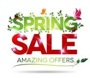 Frühlingsverkauf, überraschende Angebotmitteilung Lizenzfreie Stockbilder