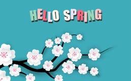 Frühlingsverkaufs-Blumenfahne lizenzfreie abbildung