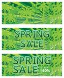 Frühlingsverkaufs-Fahnenschablone stock abbildung
