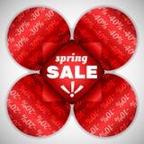 Frühlingsverkaufs-Rotblume Lizenzfreies Stockfoto