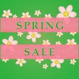 Frühlingsverkaufsaufkleber stockbilder