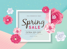 Frühlingsverkaufsplakat stock abbildung
