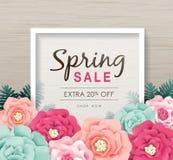 Frühlingsverkaufsplakat lizenzfreie abbildung