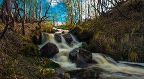 Frühlingswasserfall Lizenzfreie Stockfotografie