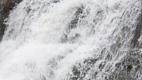 Frühlingswasserfallhintergrund stock video footage