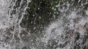 Frühlingswasserfallhintergrund stock video