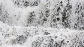 Frühlingswasserfallhintergrund stock footage