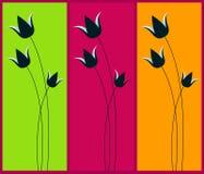 Frühlingsweb-Fahnen Stockfoto
