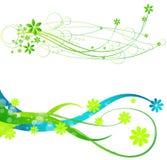 Frühlingsweb-Fahnen