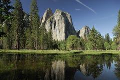 Frühlingswiese im Yosemite-Tal Lizenzfreie Stockfotos