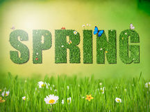 Frühlingswortkonzept Stockfotos