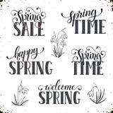 Frühlingszeitbenennung Lizenzfreies Stockbild