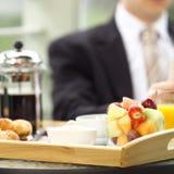 Am Frühstück Stockfotos