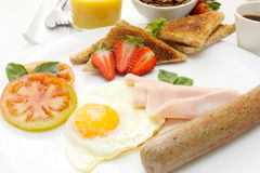 Frühstück. stockfotografie