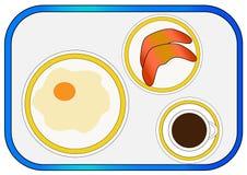 Frühstück auf Behälter Lizenzfreie Stockbilder
