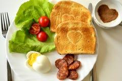 Frühstück auf der Platte Lizenzfreie Stockfotografie
