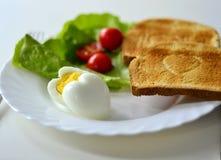 Frühstück auf der Platte Stockbild