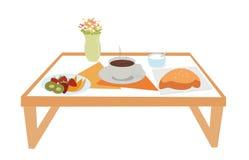 Frühstück auf Tellersegment Lizenzfreie Stockfotos