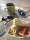Frühstück Burito stockfoto